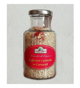 Zafferano e pomella in riso Carnaroli