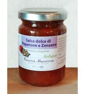 Salsa dolce di peperone e zenzero