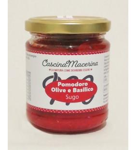 Sugo di pomodoro alle olive e basilico