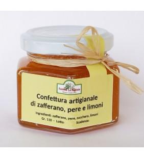 Confettura artigianale di zafferano, pere e scorza di limone