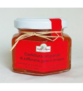 Confettura artigianale di zafferano, pere e zenzero